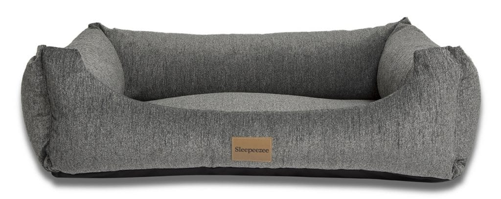 Sleepeezee large dog basket bed in pewter