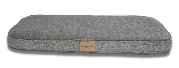 Sleepeezee large flat basket bed in pewter