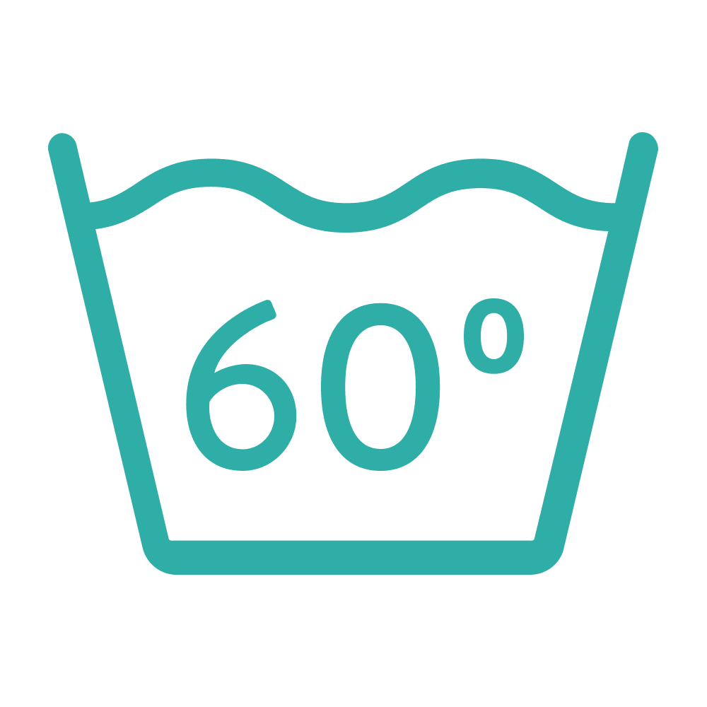 Washable at 60 degree icon